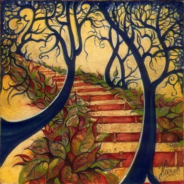 Stairs - original oil painting  - annahannahart | ello