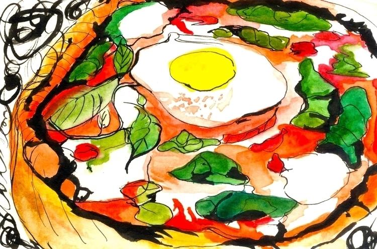 Pizza 2 - illustration, foodillustration - reebek   ello