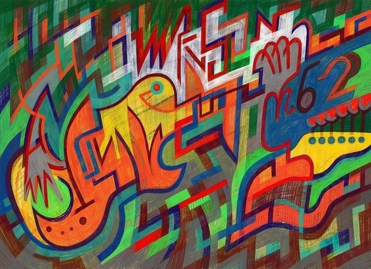 Manson MB-2 - painting, drawing - stkrk | ello