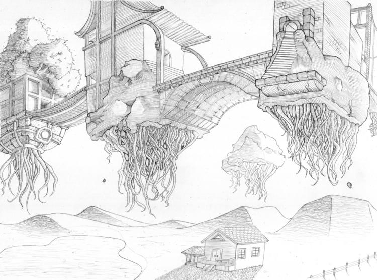 Floating City - illustration, floating - alisa102   ello