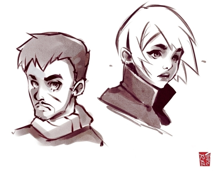 Character Designs - sketch, illustration - vinceruz | ello