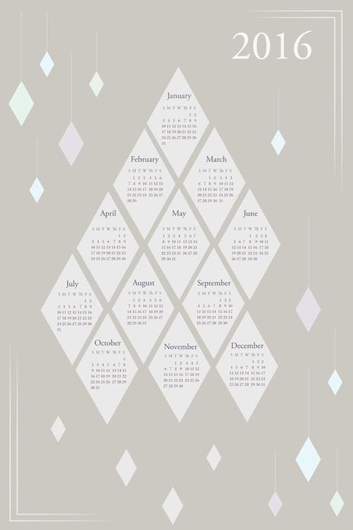 2016 geometric diamonds themed  - svaeth | ello