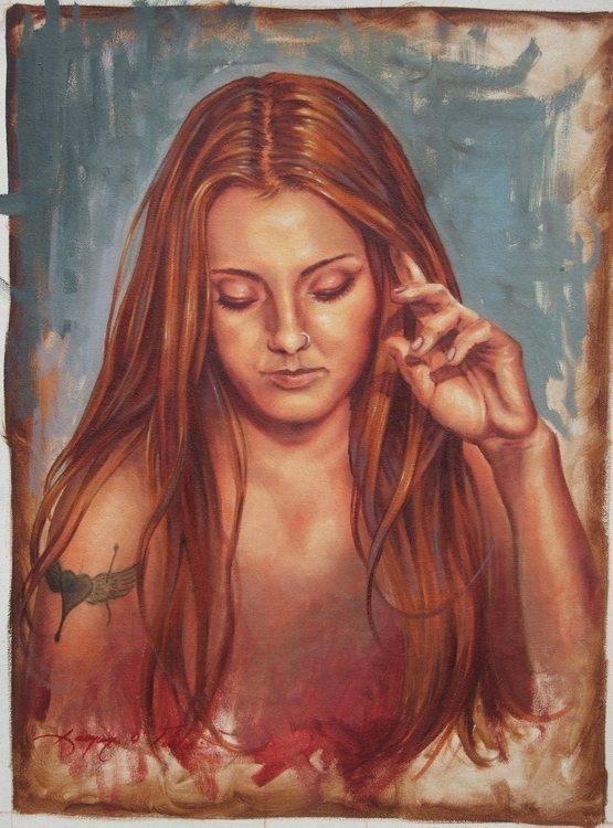 Jade Oil canvas - painting, conceptart - laurence-4020 | ello