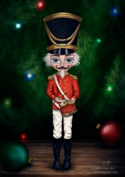 Nutcracker - illustration, painting - edaherz | ello