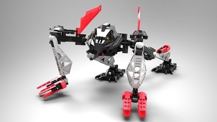 Bionicle modeled 3DS MAX render - dolfiedekock | ello