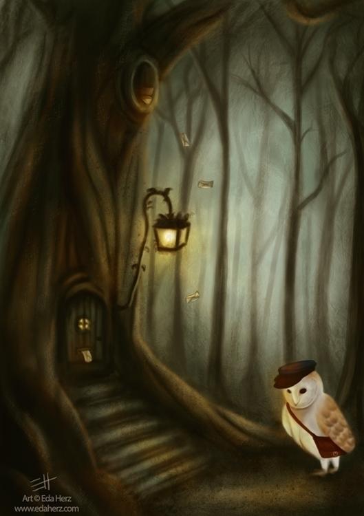 Home Sweet - illustration, painting - edaherz | ello