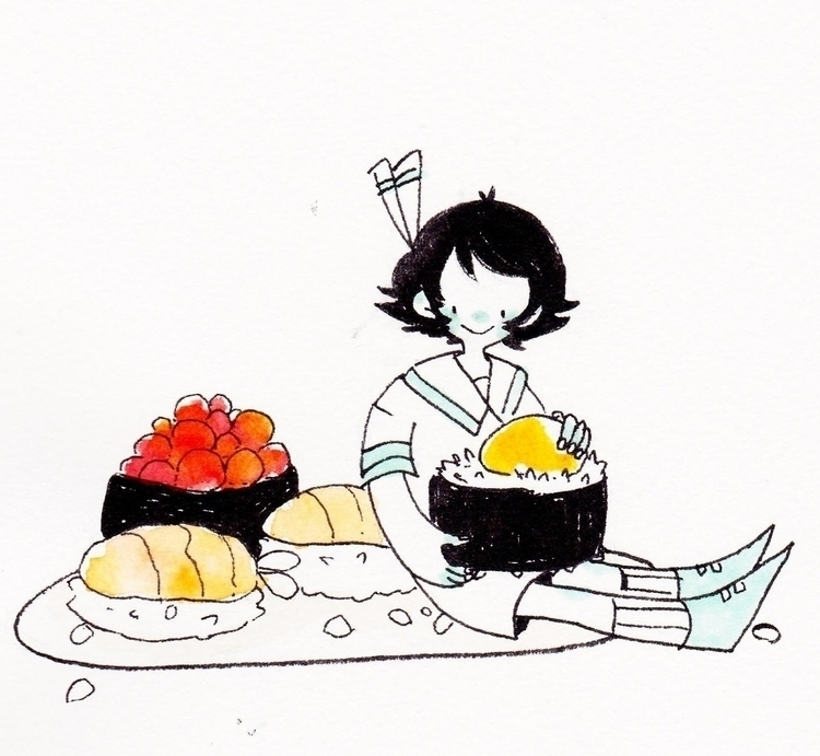 sushi - sketchbook - llyvn | ello