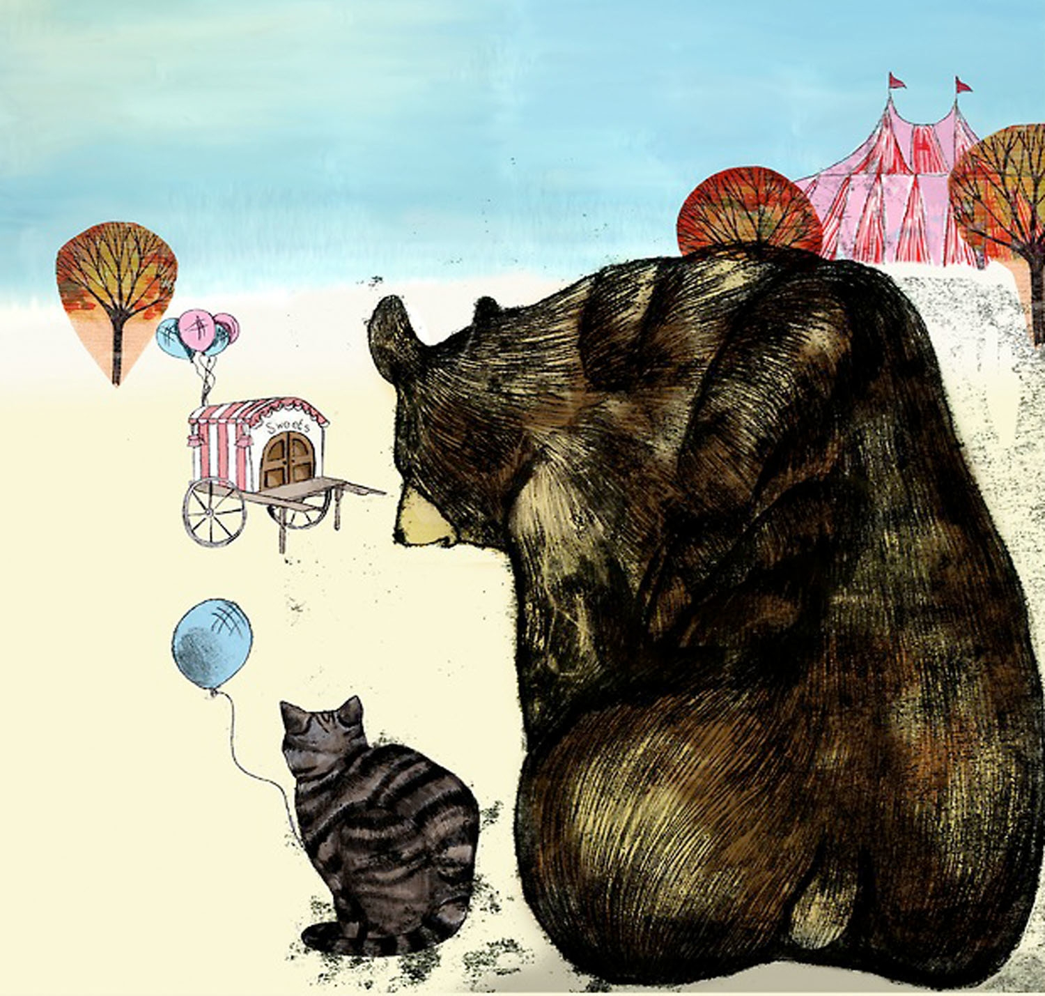 Cat Bear Fair - bears, children'sillustration - toraillustrates | ello