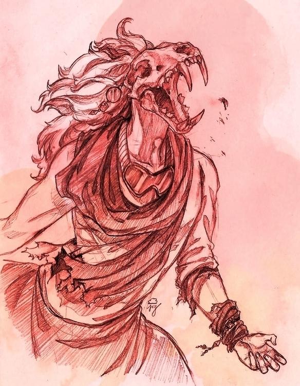 wrath, lion, drawing, pencil - rainydaycloud | ello