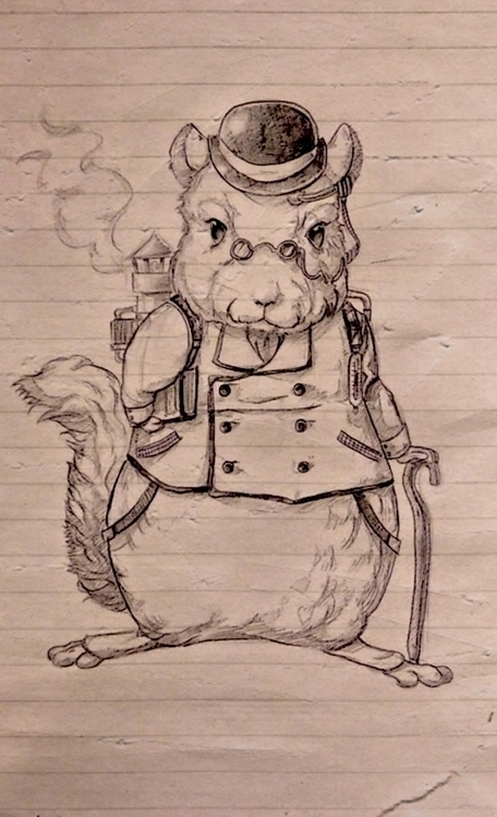 chinchilla, steampunk, pencil - rainydaycloud | ello