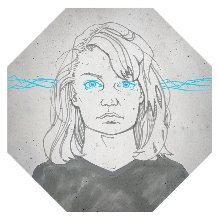 Diagonal - illustration, womanportrait - kasia_urbaniak | ello