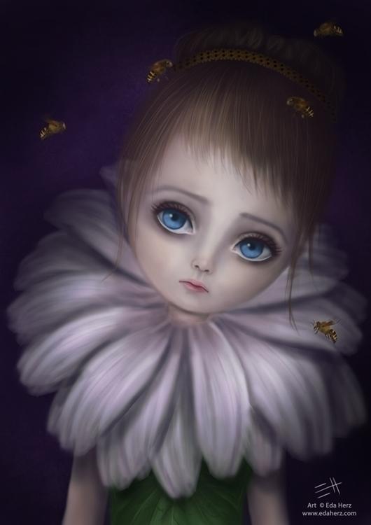 Marguerite - illustration, painting - edaherz | ello