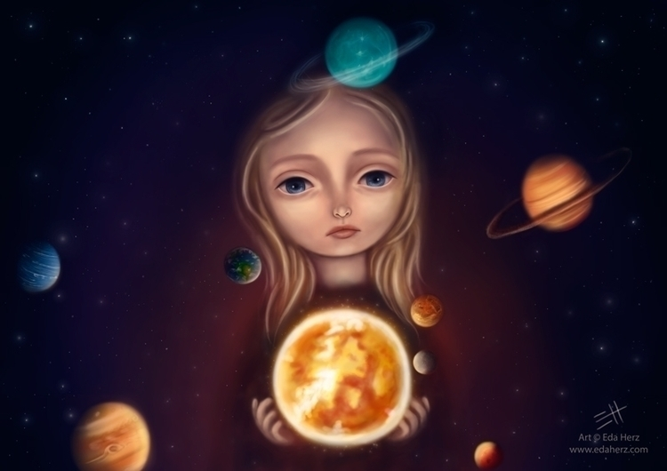 Solar System - illustration, painting - edaherz | ello