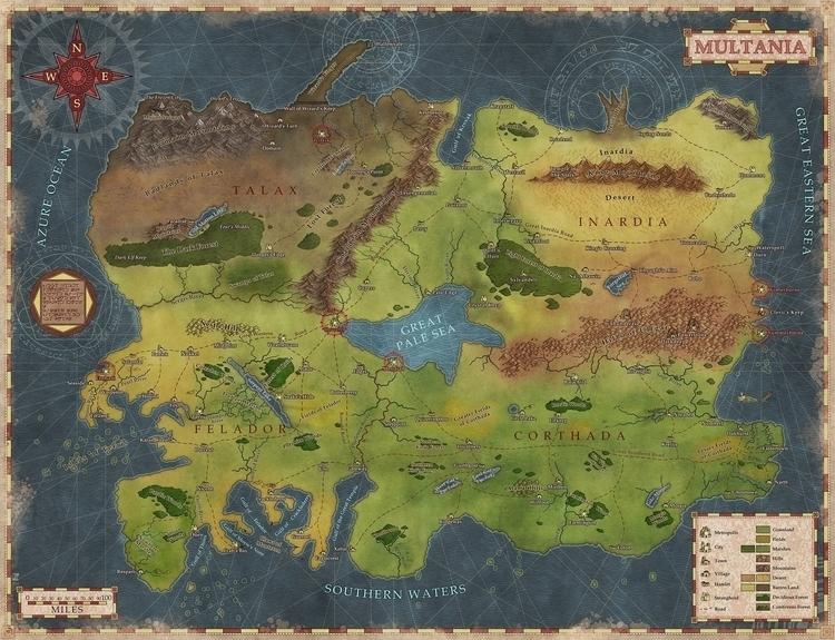 Multania - map, fantasymap, maps - robertaltbauer | ello