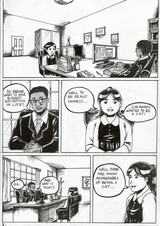 comic, interview, manga, ink - rainydaycloud | ello