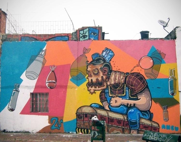 Final del mundo. con ANCU - painting - kamanyacosta | ello