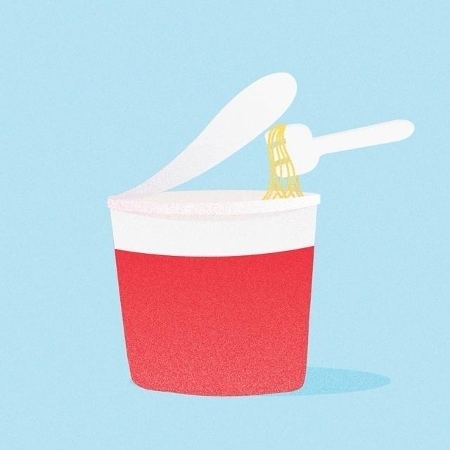 Food Icon 7 noodlesssss - illustration - clesternov | ello