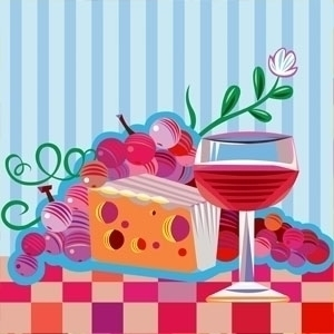 Wine Cheese Party - foodart, whineparty - yi-6998 | ello