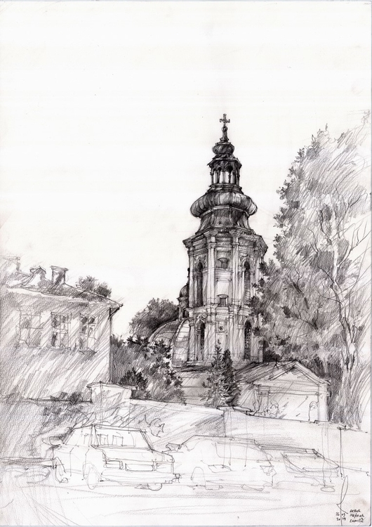 Poland, Zamosc, travel sketch - architecture - crewthere | ello