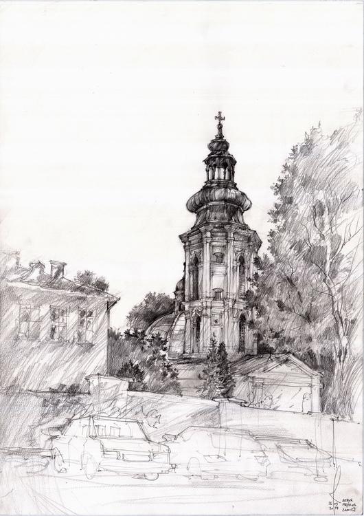 Poland, Zamosc, travel sketch - architecture - crewthere | ello