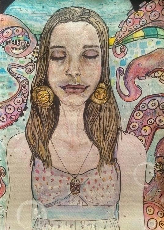 illustration, watercolor, watercolour - orduzleon | ello