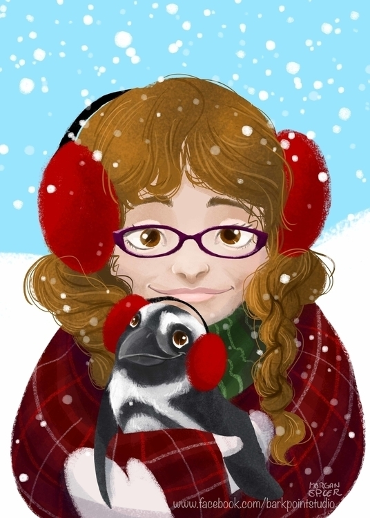Spread Benjamin Book - penguin, littlegirl - barkpointstudio | ello