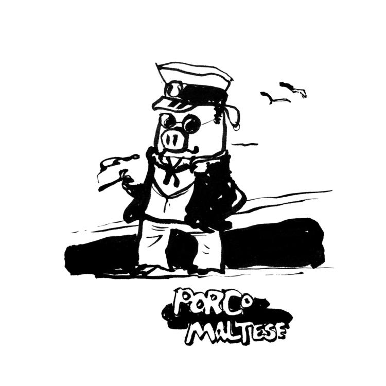 Porco Maltese - illustration, characterdesign - jonskraentskov   ello