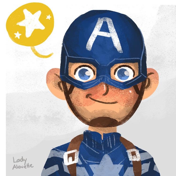 Captain America - cute, captainamerica - ladyalouette | ello