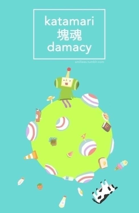 roll world - katamaridamacy, digitalart - llyvn | ello