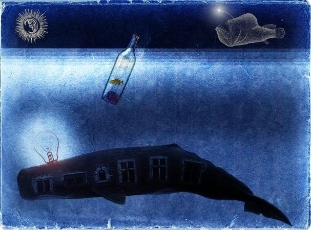 work! enjoy  - whale, bottle, fish - ade-1063 | ello