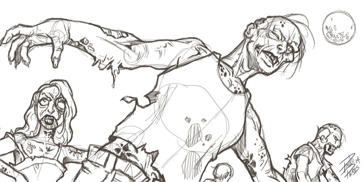 Zombies - sketch, sketchbook, zombie - pauloperes-1547 | ello