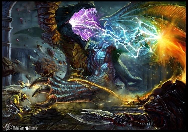personal tribute Dungeons Drago - michelegiorgiillustrator | ello