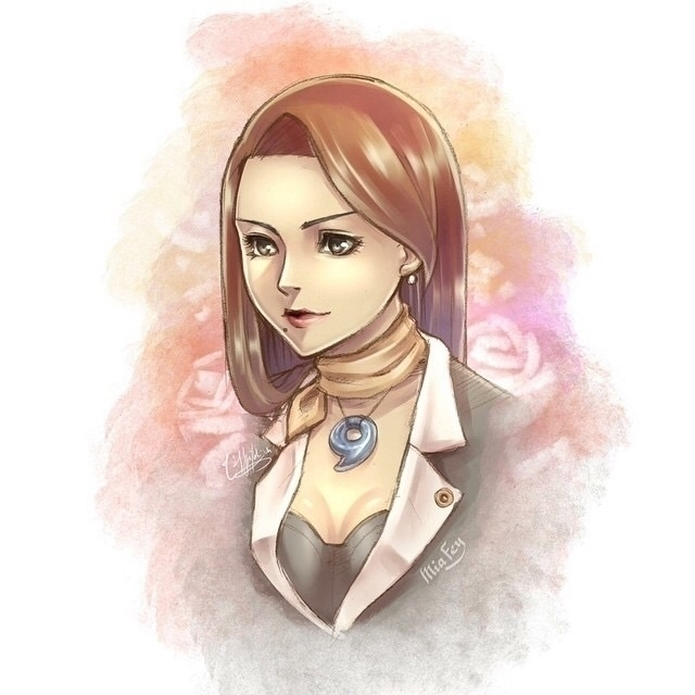 Mia Fey Ace Attorney - redrawn  - hyuei | ello
