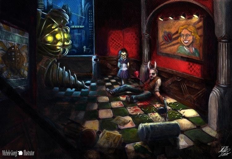 Bioshock fan art. played game y - michelegiorgiillustrator | ello