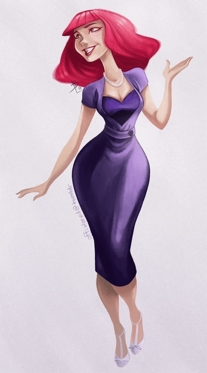 pinup, characterdesign, bethlewis - offcolor | ello