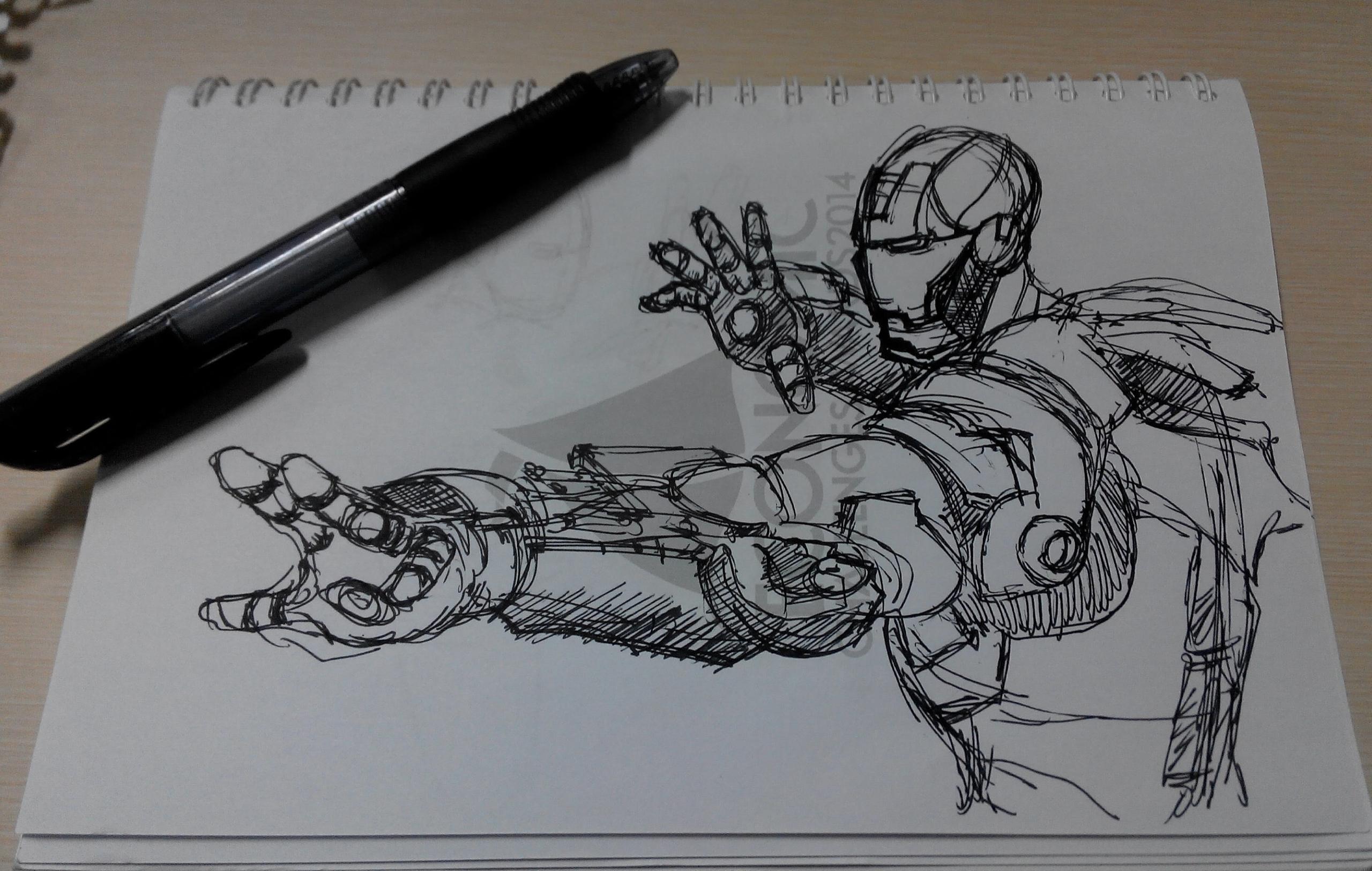 Quick sketching iron man - illustration - aidil_hakim | ello