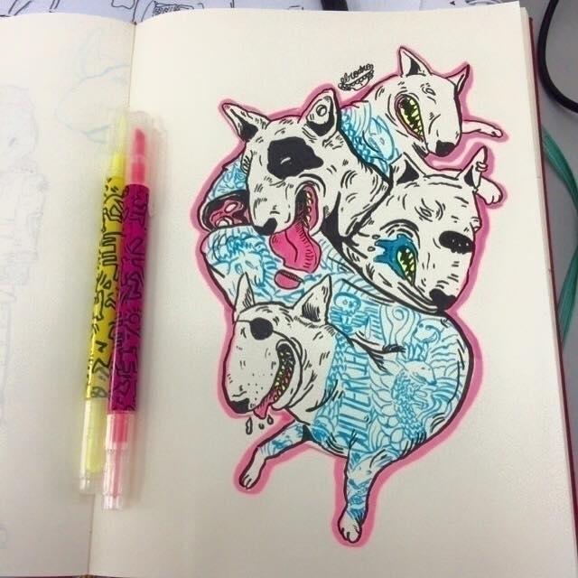 bulls - illustration, sketchbook - elrodro | ello