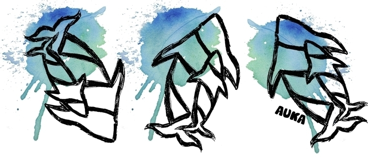 Kuyimá... whale fly - illustration - kumavilla   ello
