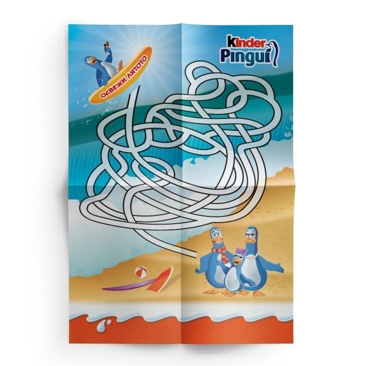 Kinder Pingui Labyrinth - #print - danipancheva | ello