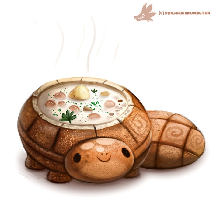 Daily Paint Bread Bowl Turtle - 1067. - piperthibodeau | ello