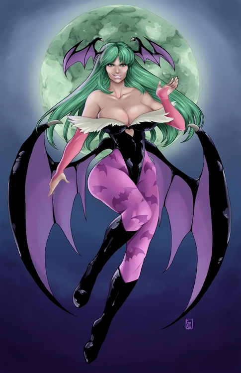 Morrigan Darkstalkers - illustration - missaudiart | ello