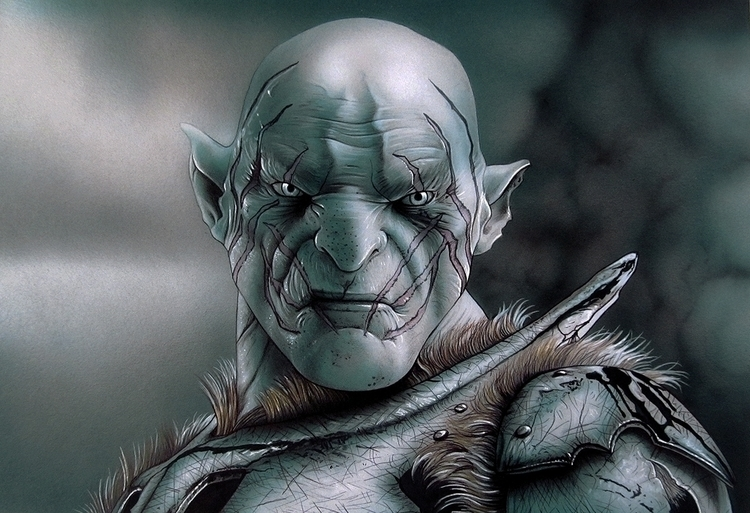 Azog.Airbrush,ink colored penci - jcberbes | ello