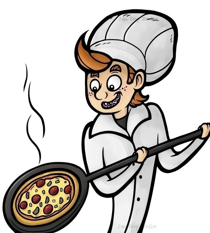 love great pizza - foodillustration - jellysoupstudios | ello