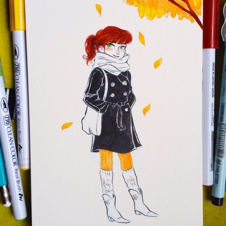 sketch, inktober, autumn - cathrineillu | ello