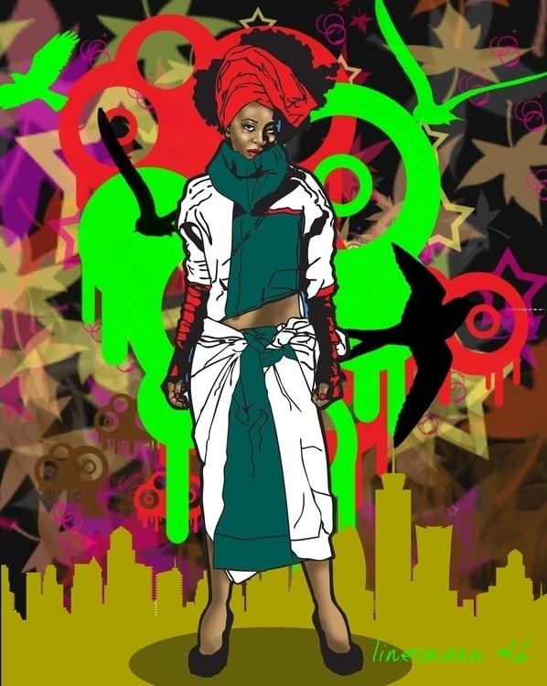 diaspora - illustration, fashionillustration - sunnyefemena | ello