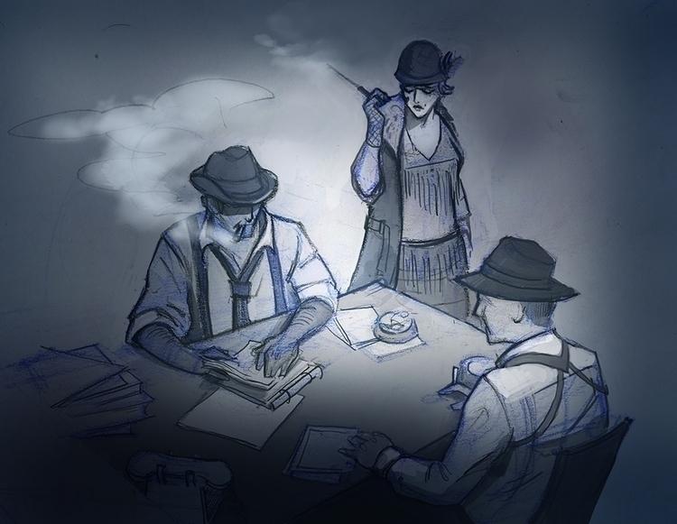 Trio - conceptart, drawing - mircha | ello