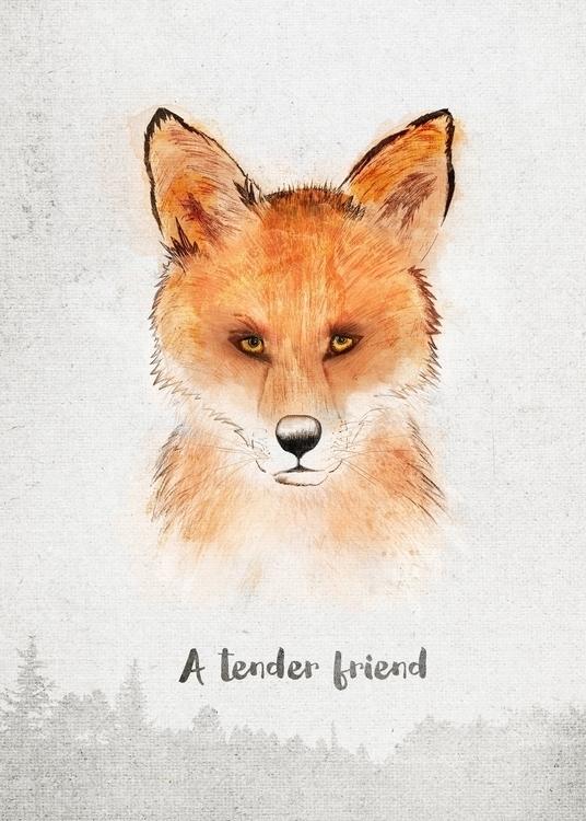 Fox . tender friend - spirits - romaartwork | ello