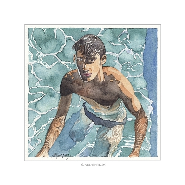 Pool Days - illustration, watercolor - nilshenrikdk | ello