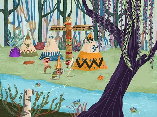 Indians - illustration, digitalart - leannepet | ello
