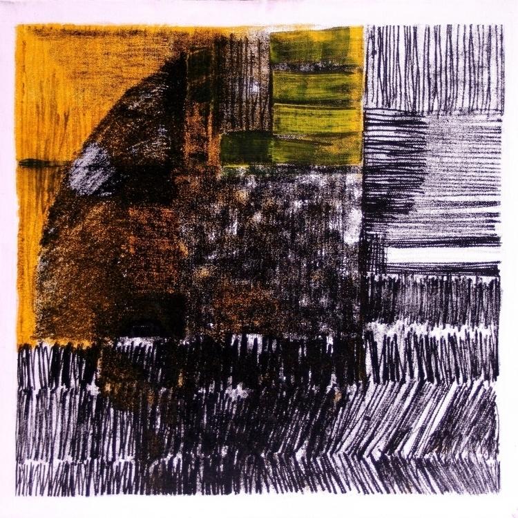 painting, yellow, monotype, monochrome - balint-2573 | ello